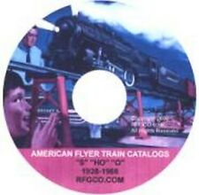 CATALOGS LITERATURE on DATA DVD for AMERICAN FLYER TRAINS