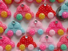 "100! Sweet Baby Toy Car Flatback Resin Embellishments Mix - 22mm/0.85"""