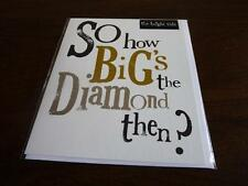 Contemporary Engagement card How Big is the Diamond?