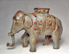 RARE circa 1910 A.C. Williams Co/Metal Elephant Antique Coin Bank/Nice Condition