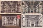 Lot de 4 cartes postales anciennes FONTAINEBLEAU palais galerie henri II