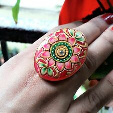 Ethnic Bohemian Wedding Indian Jewel Handcrafted Adjustable Fashion Floral Ring