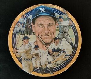 Lou Gehrig New York Yankees 1992 Hamilton Collection Limited Edition Plate MINT