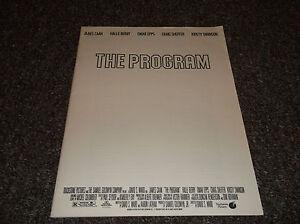 The Program vintage 1993 pressbook plus 2 movie B&W stills