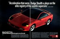 1990 Dodge Stealth R/T Turbo Coupe photo Supercar Acceleration vintage print ad