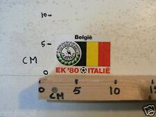 STICKER,DECAL EK 80 ITALIE VOETBAL,SOCCER JH HENKES,BELGIE,BELGIUM A NOT 100 %