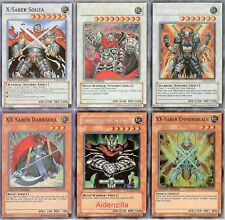 Yugioh X-Saber Deck - XX-Saber Gottoms, Souza, Urbellum, Emmersblade, Darksoul