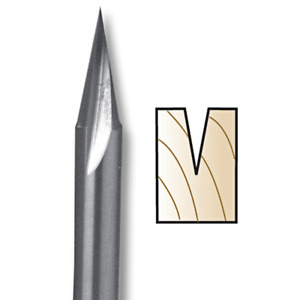 Whiteside Router Bits SC50 Carving Liner 11-Degree by 5/8-Inch Cutting Length