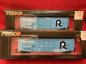 2 HO PEMCO ROCK 50699 ~50's BOX CAR-NOS-EXTREMELY RARE In Original Box