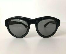 DRIES VAN NOTEN x Linda Farrow Black Round Subtle Cat Eye Sunglasses DVN/66/1