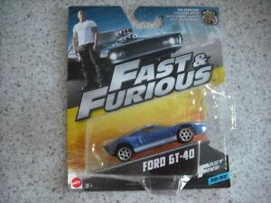 MATTEL FAST & FURIOUS DIE CAST CAR 1:55 CAR 32 FORD GT-40 FAST FIVE