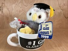 1st Class Graduate 2009 Coffee Cup Mug Stuffed Cap Diploma Owl TB Toy Trading Co
