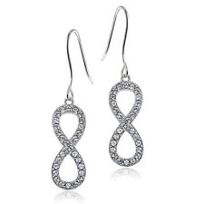 Crystal Infinity Dangle Earring with Swarovski Elements