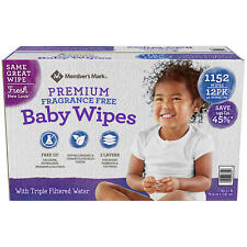 Member's Mark Premium Fragrance Free Baby Wipes (1152 ct.) ****SALE****