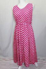 Liz Lange Maternity Sleeveless Striped Dress Women's Size S Pink & White