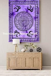 Peace Spirit Om Mandala Indian Meditation Wall Hanging Poster Tapestry Dorm Deco