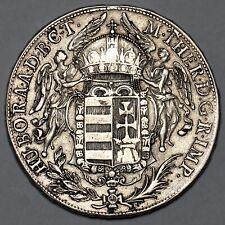 1770 MARIA THERESA HUNGARY KREMITZ SILVER THALER TALER COIN