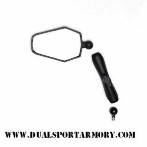 Double Take Adventure Mirror Combo, Folding, Dual Sport, ADV, w/ Ball, W/Ram arm