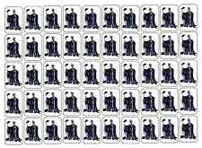 """50 Maleficent Envelope Seals / Labels / Stickers, 1"""" by 1.5"""""""