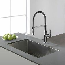 KRAUS 30 Inch Undermount Single Bowl 16 Gauge Stainless Steel Kitchen Sink with