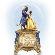 "Disney ""Beauty And The Beast"" Musical Glitter Globe Music & Motion! NEW"