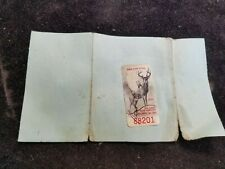 Vintage 1980 1981 New York State Big Game Bow Hunting Stamp on License
