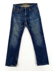 American Eagle 30x30 Slim Straight Blue Jeans Classic Denim Stone Wash Casual