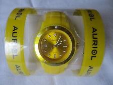 Armbanduhr Damenarmbanduhr Colour Watch Silikonuhr gelb- NEU