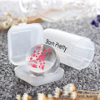 Manicure Single Clear Jelly Refill Head For Nail Art Stamping Stamper 2.8cm