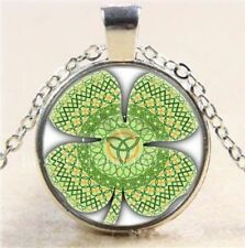 Alloy Glass Flowers Plants Costume Necklaces & Pendants