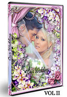 200 photoshop PSD Wedding DVD covers Vol 2