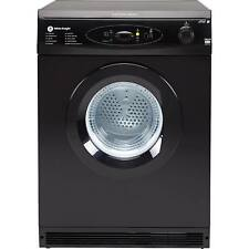 White Knight C86A7B Freestanding Multifunction Sensing 7Kg Vented Dryer in Black