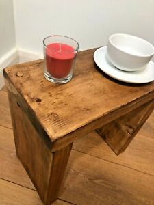 RUSTIC COFFEE/SIDE TABLE- SOLID CHUNKY WOOD-FARMHOUSE - 5 WAX COLOUR OPTIONS