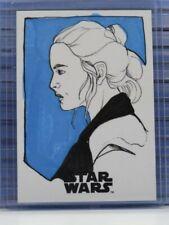 Star Wars: The Last Jedi Artist Kaela Croft Signed Auto Autograph Sketch Card D9