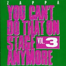 Vol. 3-You Can't Do That On Stage Anymore - Frank Zap (2012, CD NIEUW)2 DISC SET