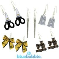 Bluebubble SEW SWEET Earrings Funky Fun Fashion Cute Craft Hobby Novelty Kitsch