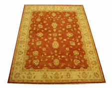 Real Rug Brick Manufacture 197x154 CM 100% Wool Hand Knotted Red Beige