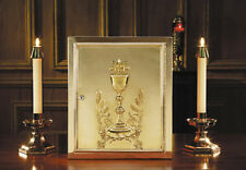Beautiful Ornate Chalice and Host Brass Tabernacle