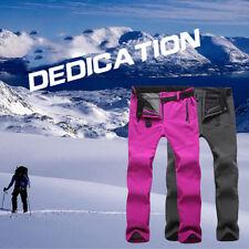 Men Women Winter Outdoor Hiking Ski Pants Fleece Windproof Waterproof Trousers