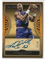 Verzamelkaarten: sport 2014 Panini National Treasures Signatures #S-KM Karl Malone Utah Jazz Auto Card