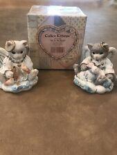"Calico Kittens Enesco ""Joy to the World"" & ""A Loving Gift�"