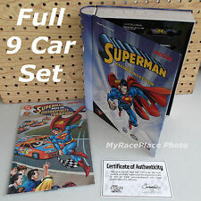 DC Comics SUPERMAN TEAM RACING COLLECTION _ 9 Car Action Diecast Set in Book Tin