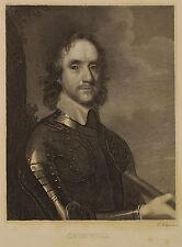 General Oliver Cromwell. Halbportrait, gestochen von Friedrich Weber um 1830.