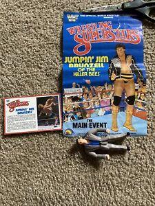 WWF Jumpin Jim Brunzell Killer Bees LJN Poster 1986 Backing card WWE Very NICE