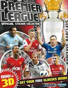 Topps Premier League 2011 STICKER ALBUM & 3D GLASSES    NEW CONDITION