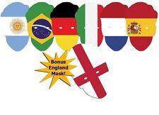 BANDIERA INTERNAZIONALE CARD Mascherina-varietà 6 Pack Plus Bonus ENGLAND FLAG MASK