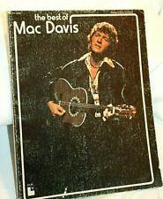 The Best Of Mac Davis Song Book