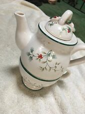 Pfaltzgraff Sculpted Winterberry Tea For One perfect condition