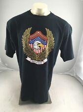 VINTAGE Bikers Image Key West black Eagle American Flag Motorcycle T-shirt XL