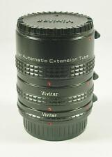 VIVITAR AT-22 PENTAX K FIT AUTO EXTENSION TUBE SET
